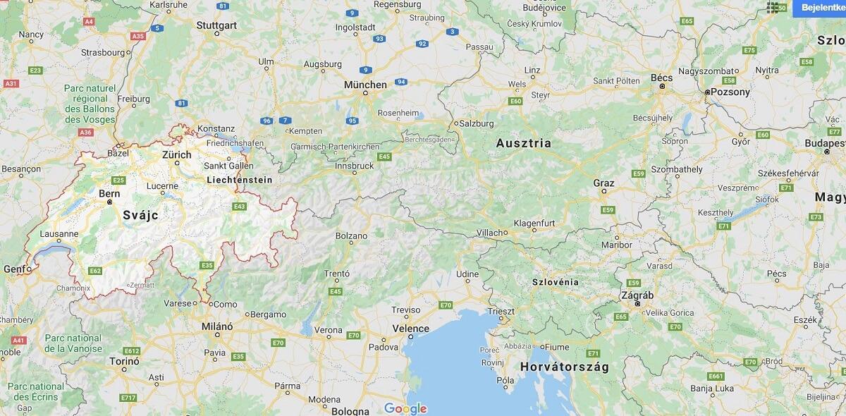 autómentés Svájc